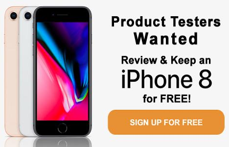 Review & Keep An iPhone 8 For Free