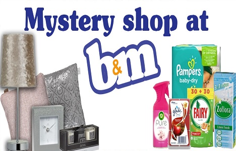 Review & Keep Free £50 Mystery Shopping At B&M UK